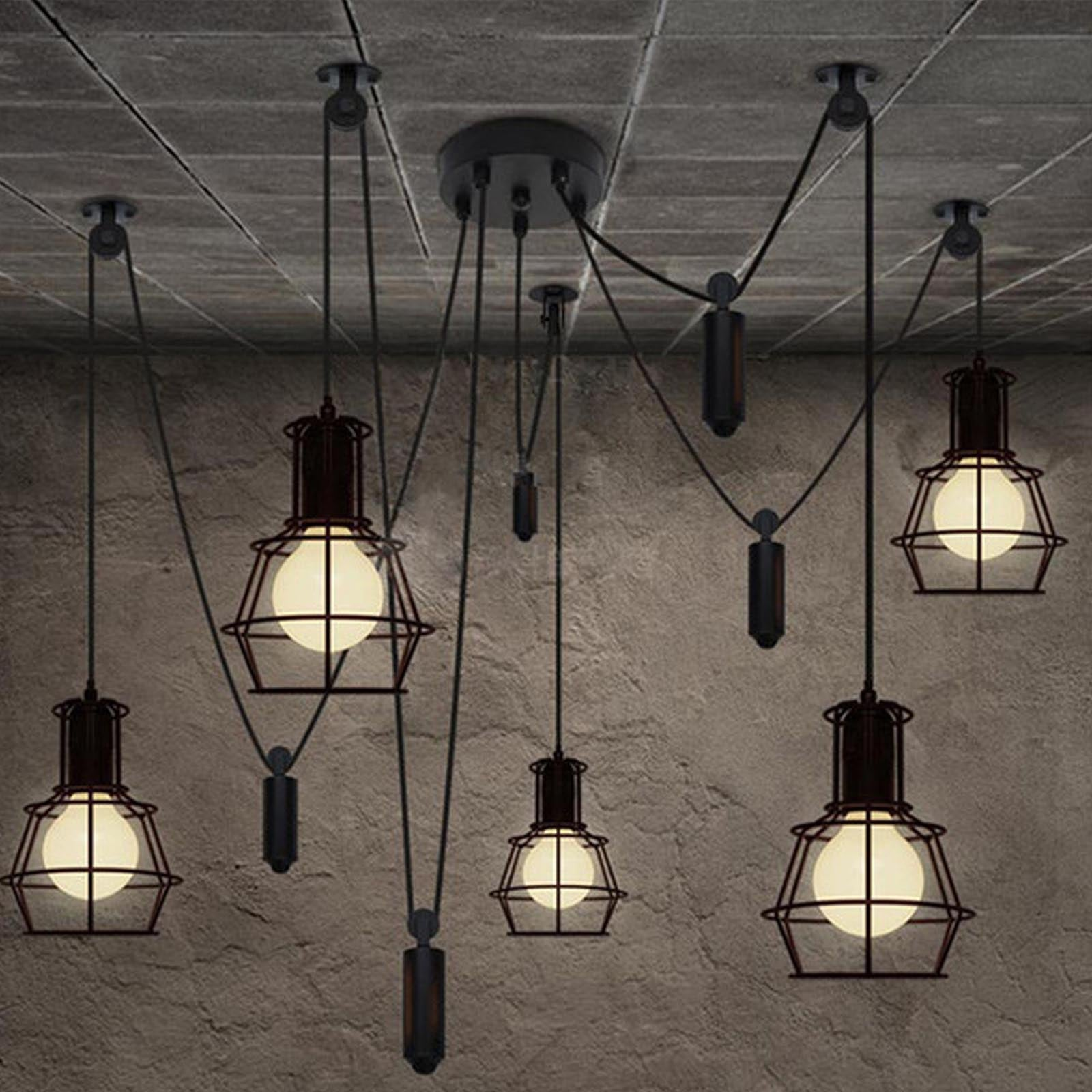 5 heads industrial   pendant  Lamp  CY-DD-110 -  صباح معلق صناعي 5 رؤوس - Shop Online Furniture and Home Decor Store in Dubai, UAE at ebarza