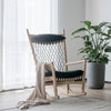 Solid Wood and Cord Lounge Chair  SF-019A-N - ebarza