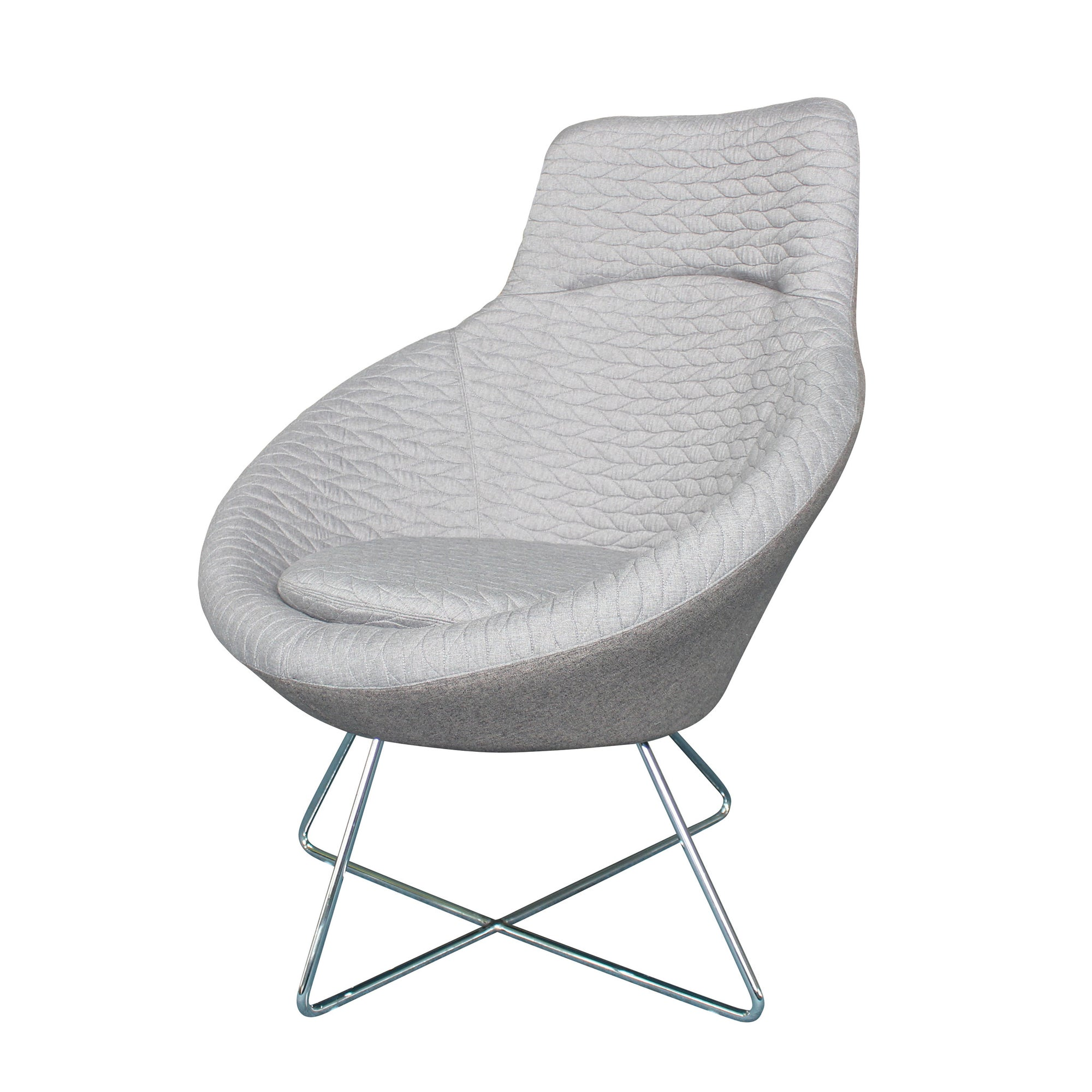 Lounge Chair  Leafe Lounge Chair Le0077Grey