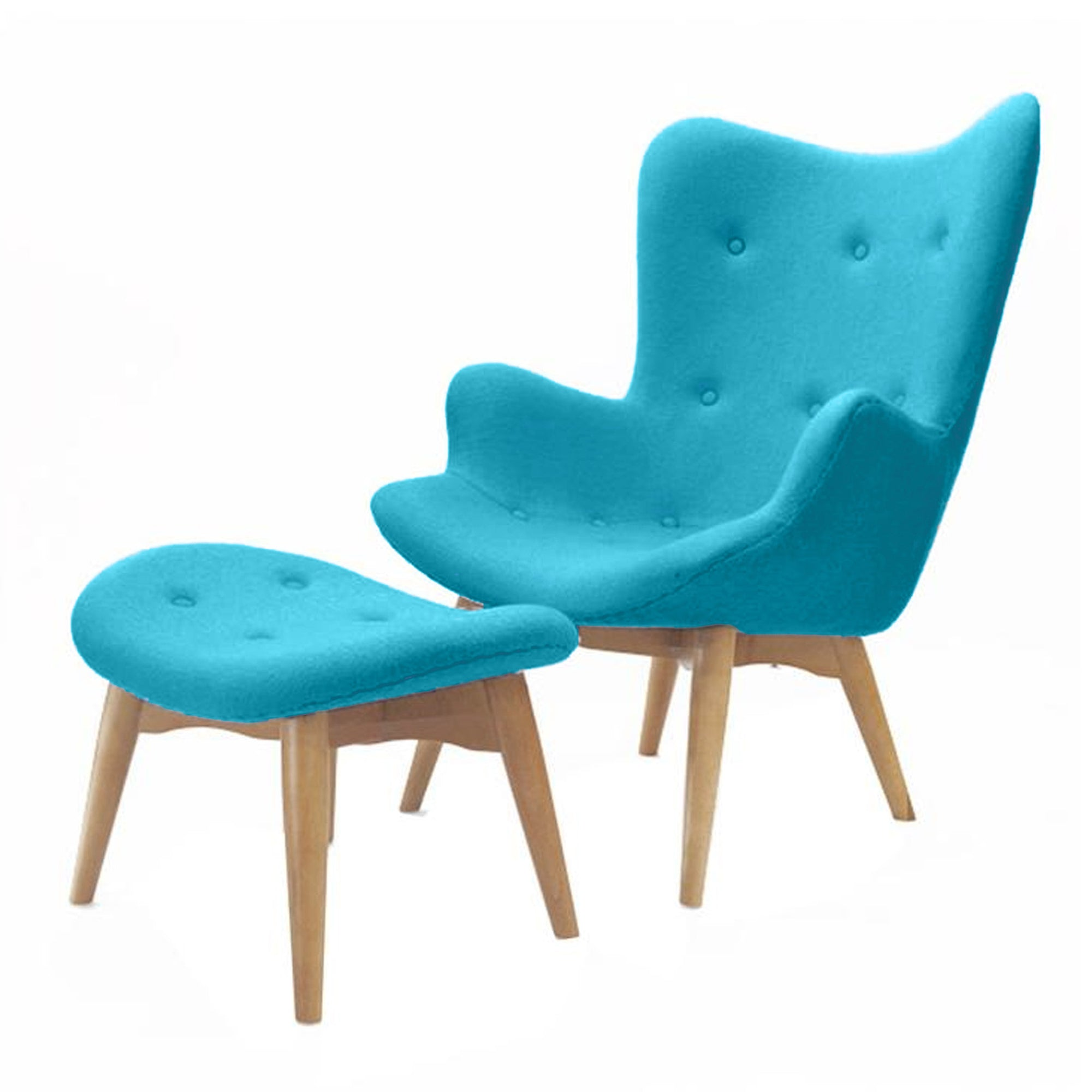 Lounge Chair and Ottoman BP8125-BL-TR -  كرسي صالة عثماني - Shop Online Furniture and Home Decor Store in Dubai, UAE at ebarza