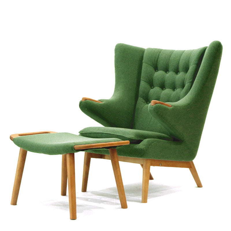 Replica Hans Wegner Papa Bear Chair And Ottoman Ebarza