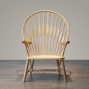 Solid Wood and Cord Lounge Chair  WS-016