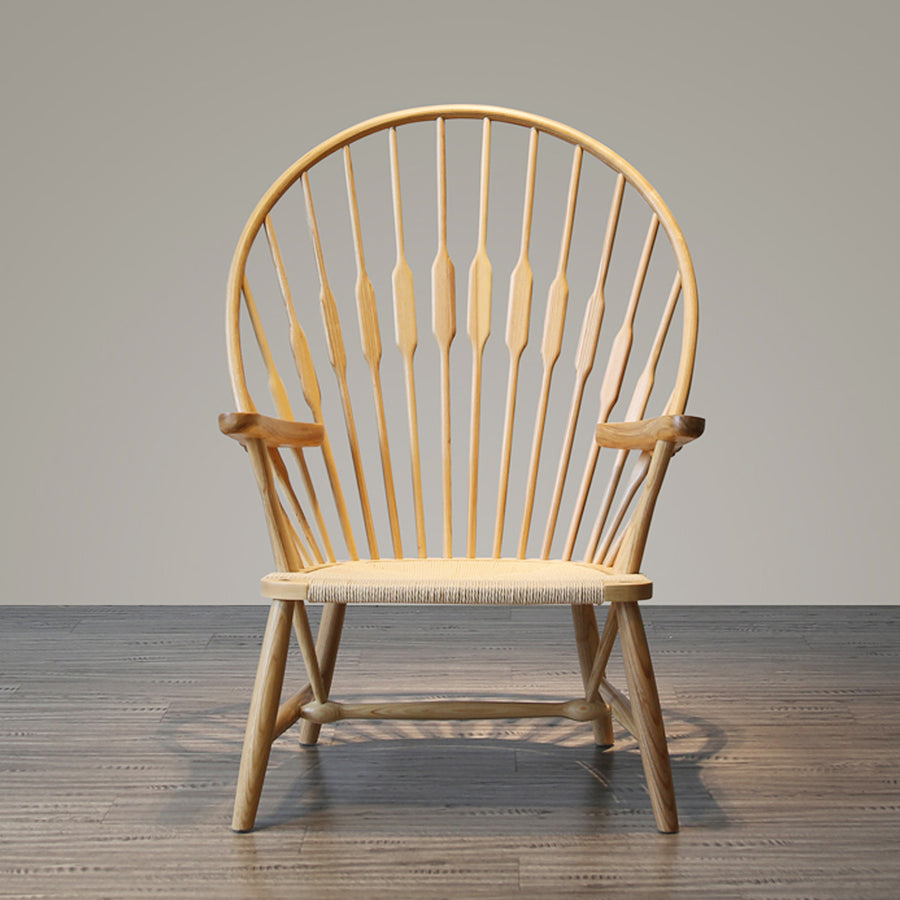 Solid Wood and Cord Lounge Chair  WS-016 - ebarza