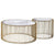 PRE-ORDER 40 DAYS DELIVERY  Set of 2 Natural Marble & Stainless Steel Table KAR018 BP8808 G.W