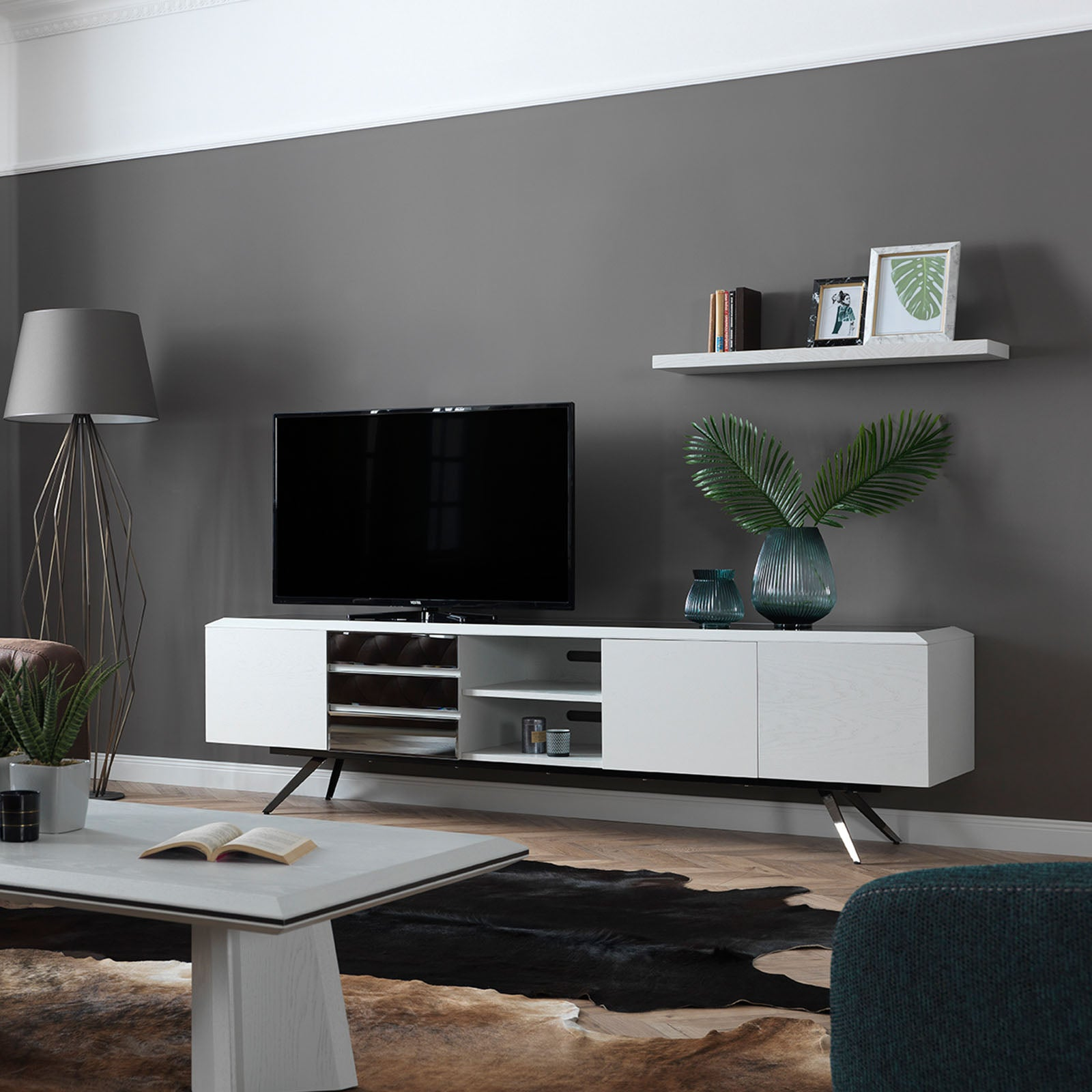 Mona WHITE TV Unit MONICAWHITE