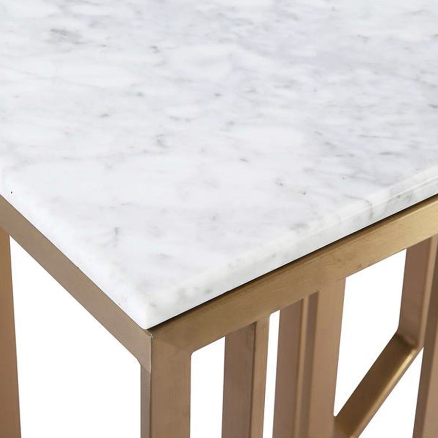 Pre-order 35 days delivery Natural Marble & Stainless Steel console Table BP8812- S-G