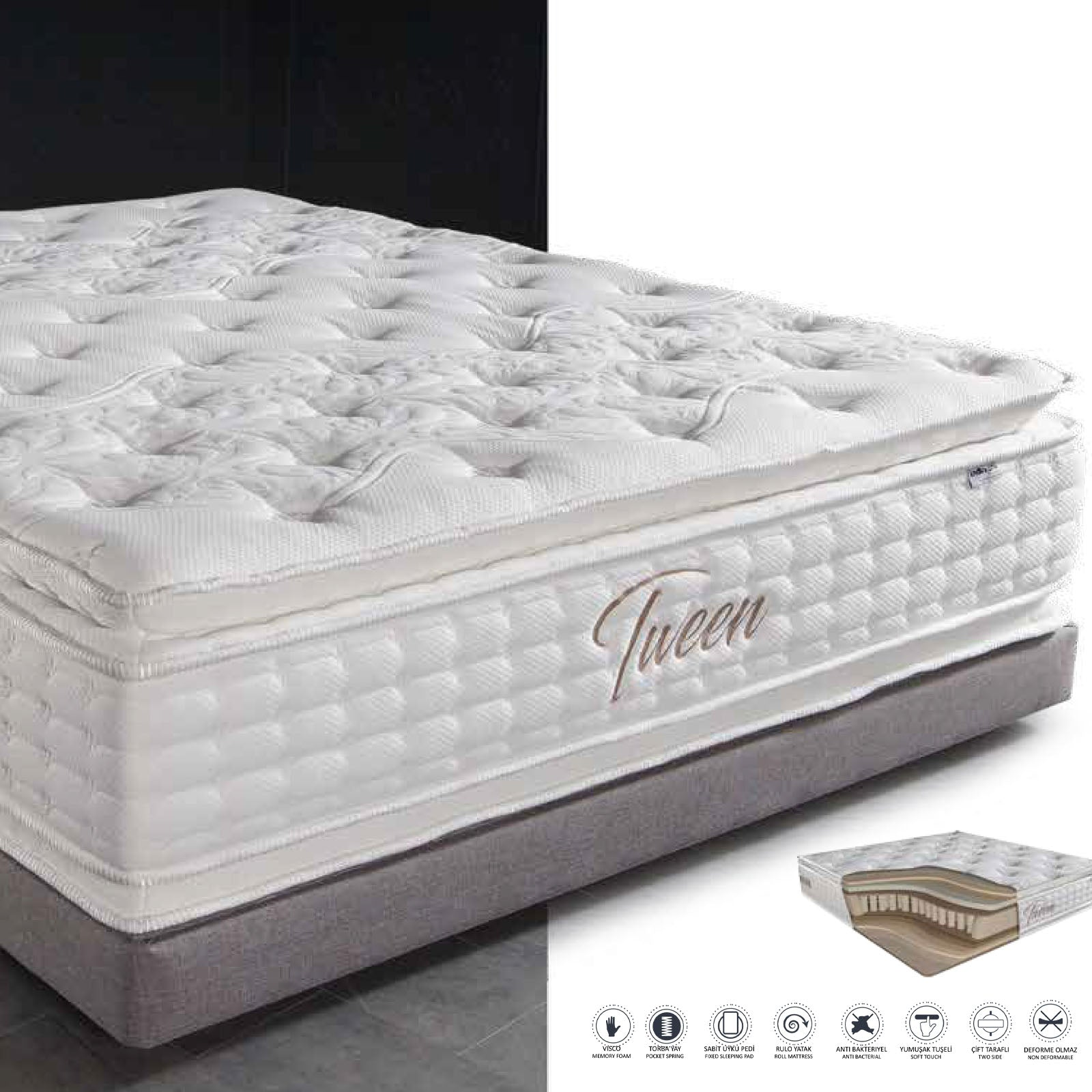 110x200 CM Indivani TWEEN  Double Side mattress  TWEEN-110 -  110x200 سم مرتبة إنديفاني توين مزدوجة الجانب - Shop Online Furniture and Home Decor Store in Dubai, UAE at ebarza