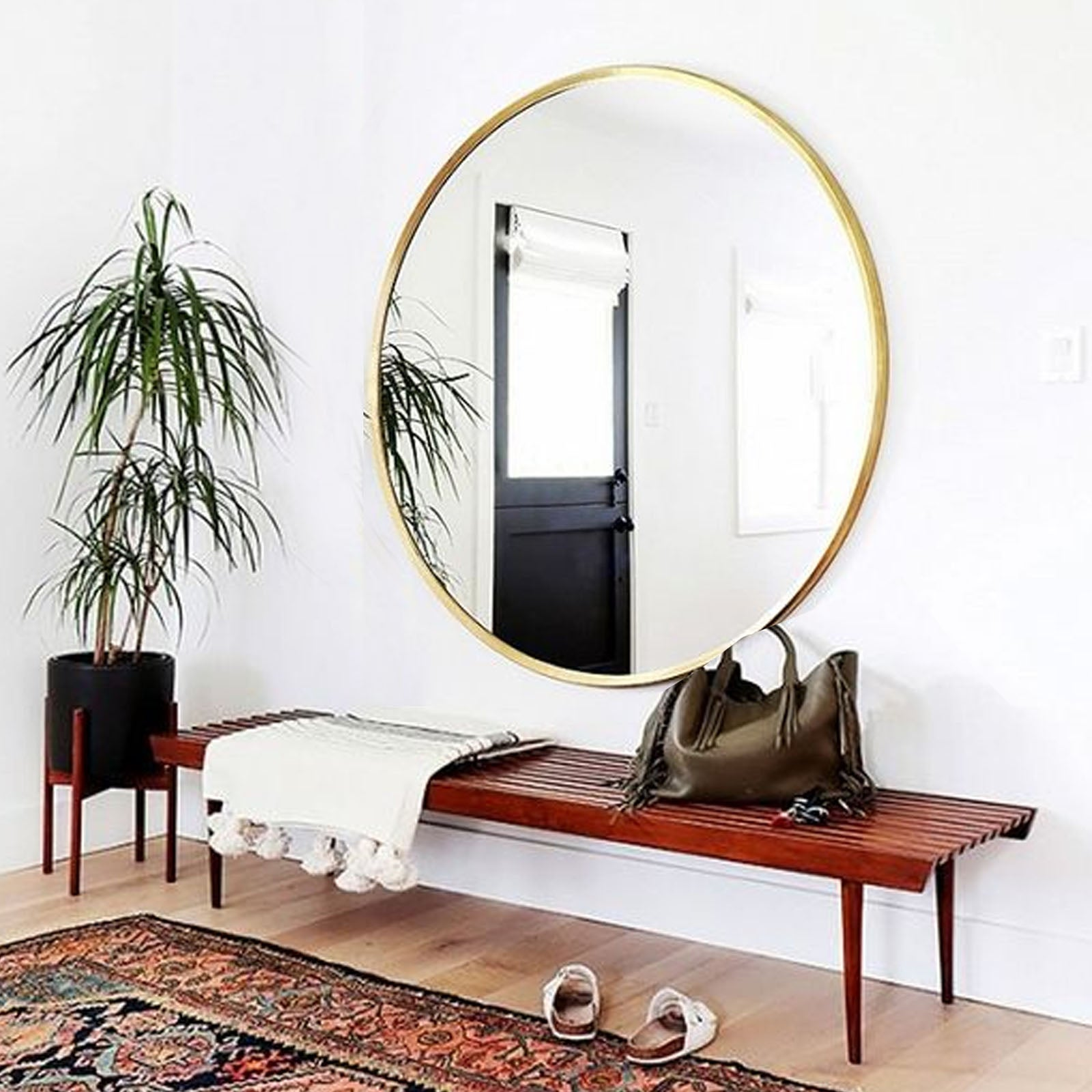 Mid century French Style Mirror  OA-5874M-G -  مرآة على الطراز الفرنسي ميد سينشري - Shop Online Furniture and Home Decor Store in Dubai, UAE at ebarza