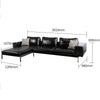Pre-Order 60 Days Delivery   Capoun L shape  Sofa Srr038-3CL - ebarza