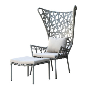 outdoor  Lounge Chair& Ottoman 09820502-BIG