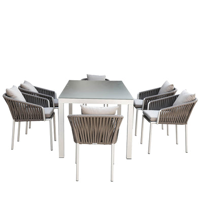 outdoor   Dining set  ( tables + 6 chairs )  20840101