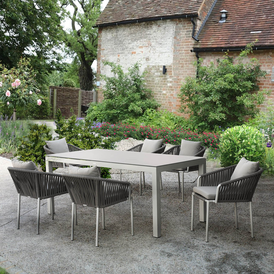 Pre-Order 30 days delivery outdoor   Dining set  ( tables + 6 chairs )  20840101