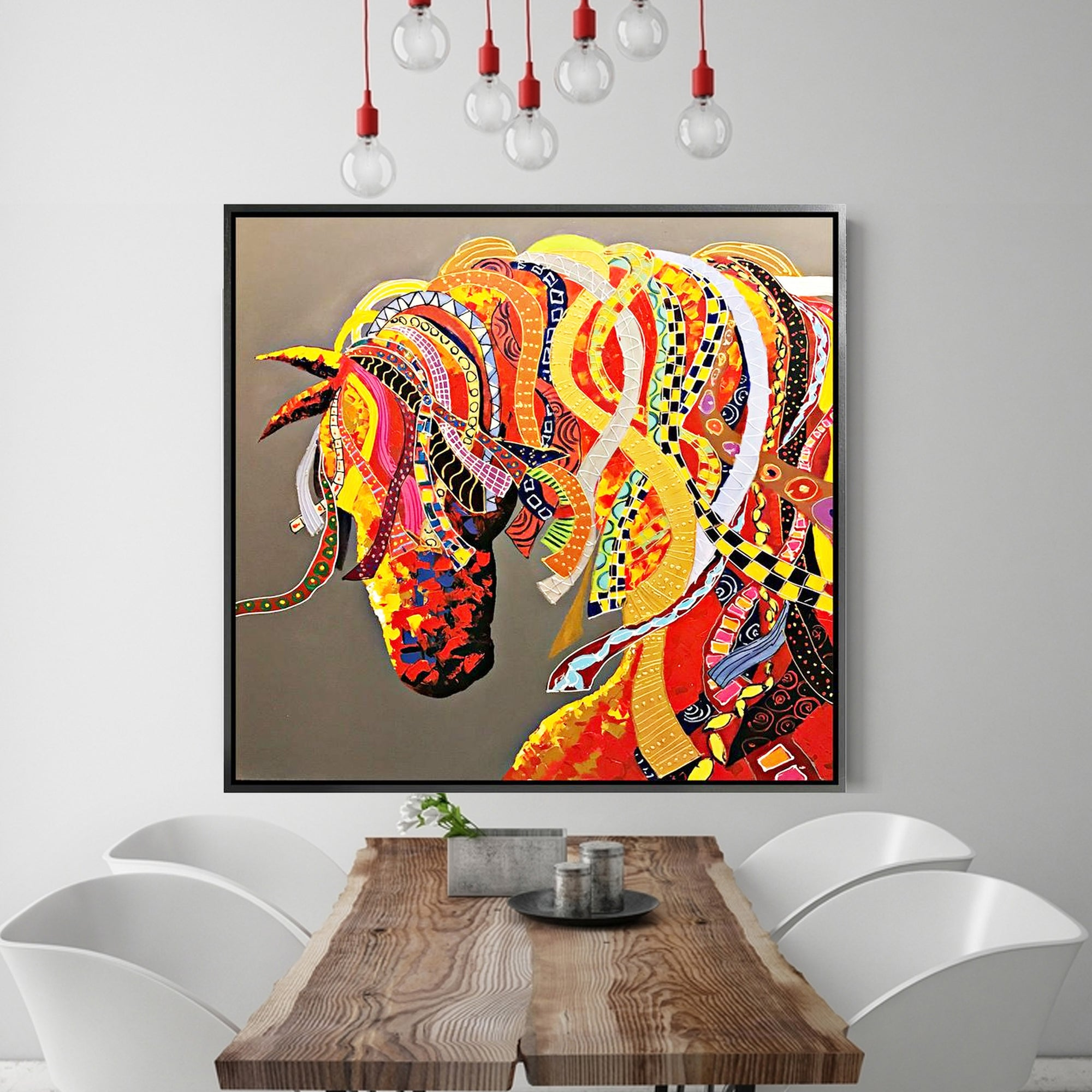 Painting - Handpainted Art Painting With Aluminum Frame 105x105cm PNH005