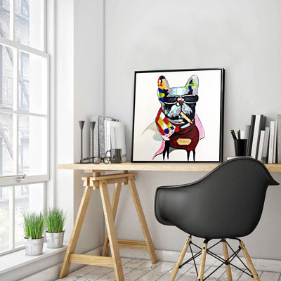 Painting - Handpainted Art Painting With Aluminum Frame 65x65cm PND006S