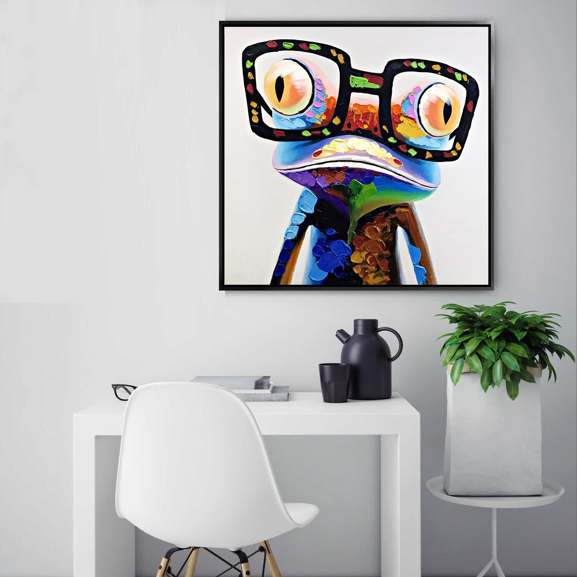 Painting - Handpainted Art Painting With Aluminum Frame 65x65cm PNF010S