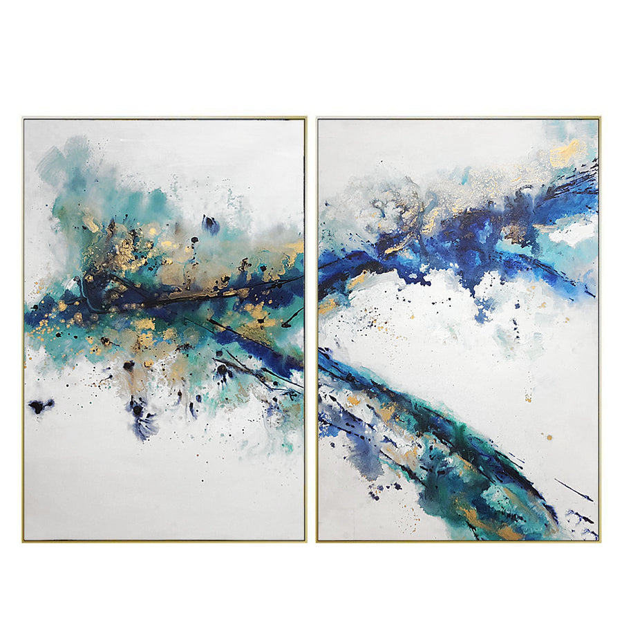 set of 2  Handpainted Art Painting with  frame SO898 180X130 SOAP00129
