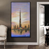 Handpainted Art Painting with  frame 90x180cm SOAP0012X