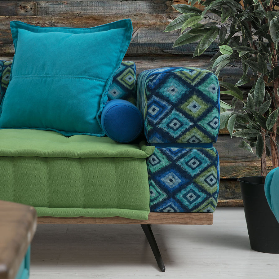 Pre-Order 60 days delivery Coloruim 3 seater   Sofabed   IBIZA001S-Green