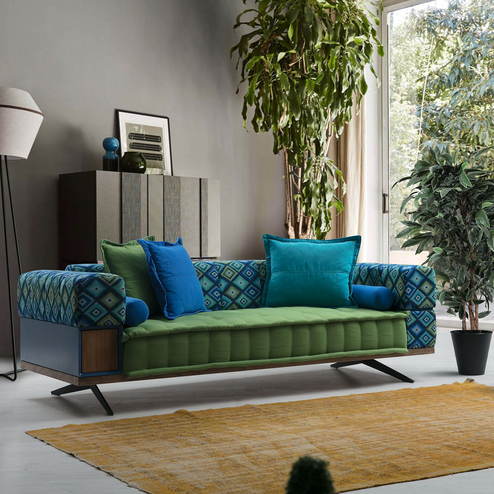 Colorium 3 Seater Sofabed IBIZA001S-Green