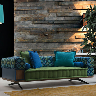 Coloruim 3 seater   Sofabed   IBIZA001S-Green