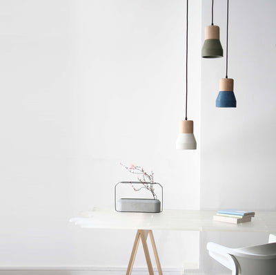 Pendant Lamp - Concrete And Wood  Lamp BP0686N+B