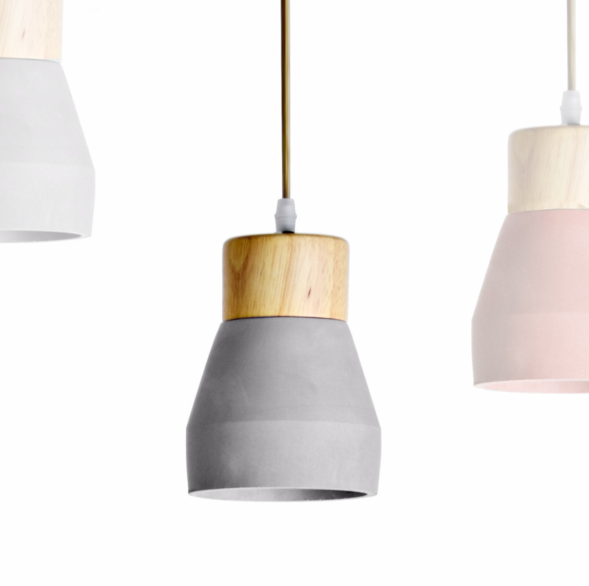 Pendant Lamp - Concrete And Wood  Lamp BP0686N+G