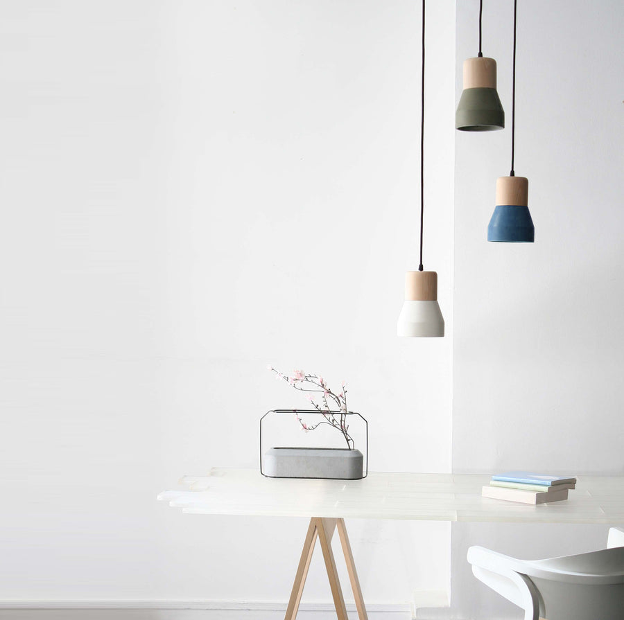 Pendant Lamp - Concrete And Wood  Lamp BP0686W+B