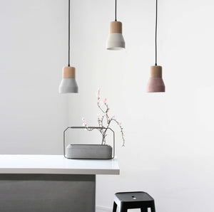 Concrete and wood  lamp BPMT06-W+BE