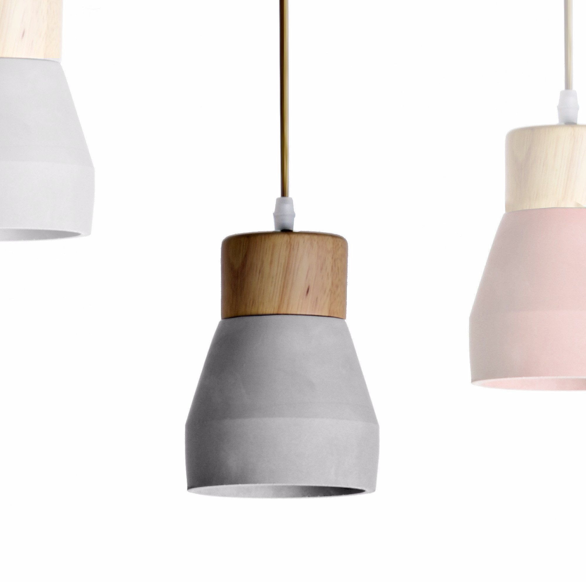 wood pendant lighting. Pendant Lamp - Concrete And Wood BP0686W+G Lighting