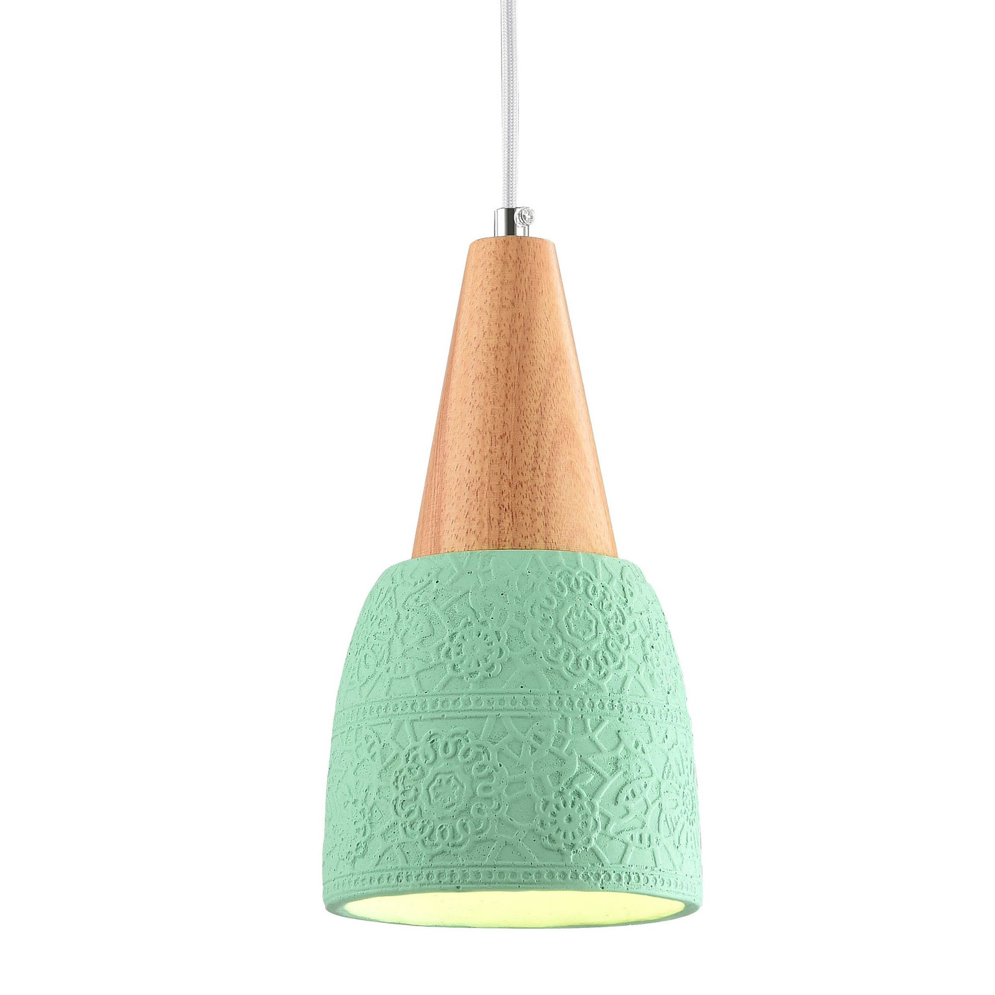 Pendant Lamp - Concrete And Wood  Lamp F4550/1G