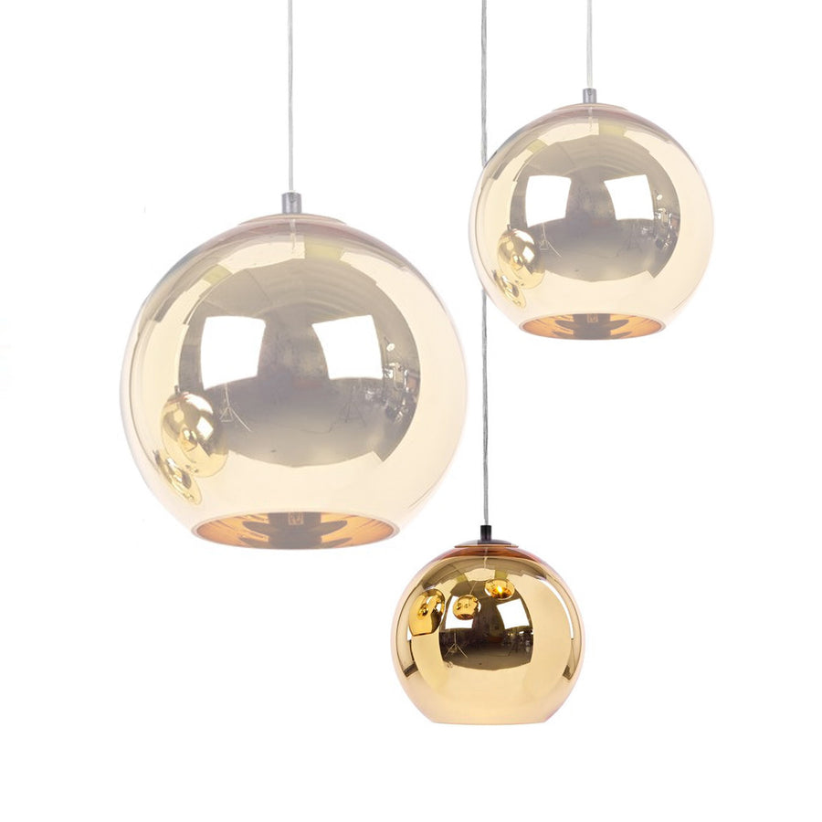 Pendant Lamp - Golden Glassball Pendant Lamp 20cm BP0184-20