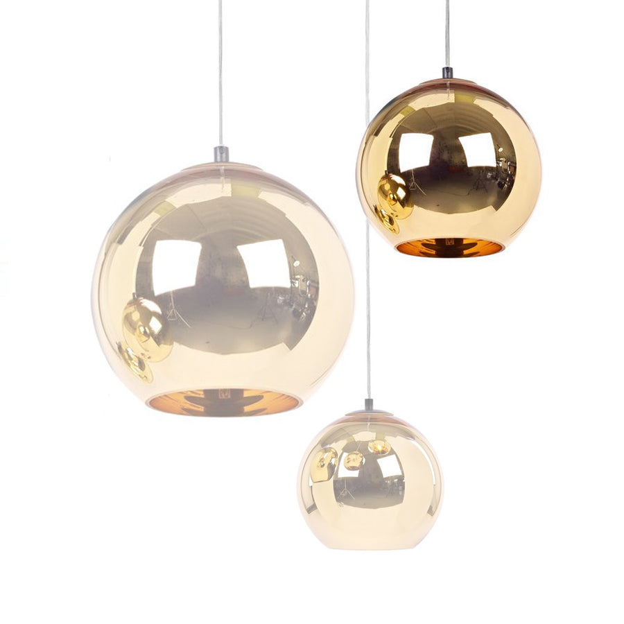 Pendant Lamp - Golden Glassball Pendant Lamp 30cm BP0184-30