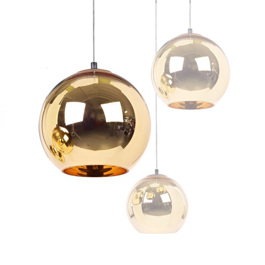 Pendant Lamp - Golden Glassball Pendant Lamp 40cm BP0184-40