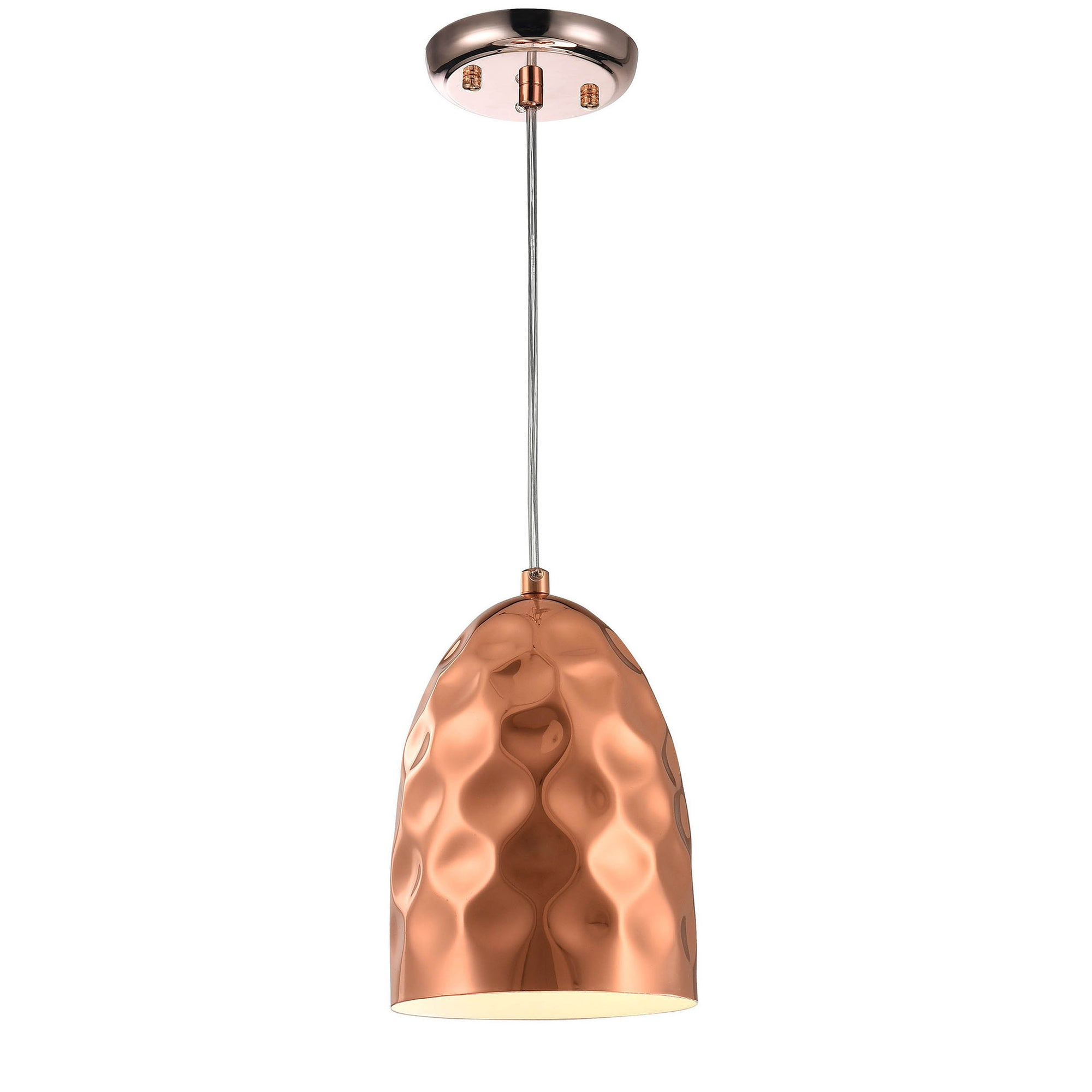 Pendant Lamp - Hammered Copper Industrial Pendant Light F4864/1