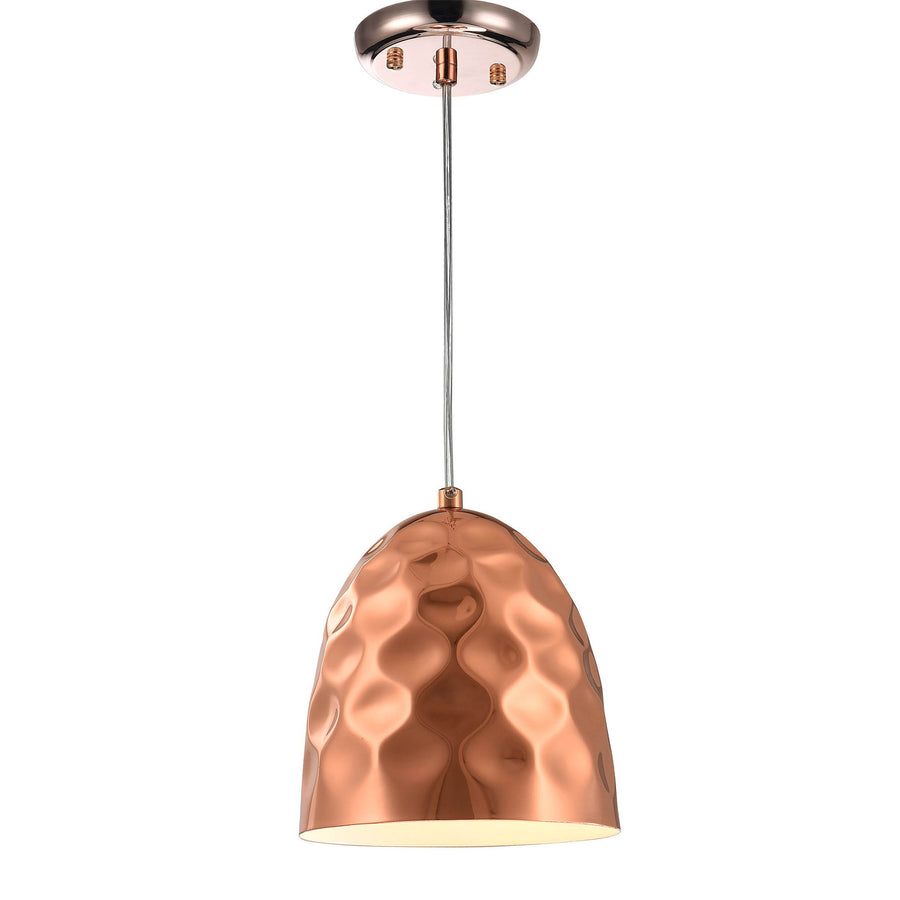 Pendant Lamp - Hammered Copper Industrial Pendant Light F4868/1