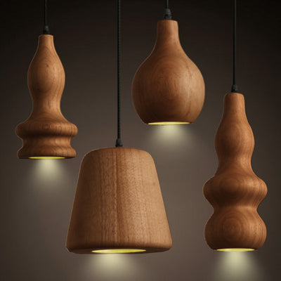Pendant Lamp - Set Of 4 Arco Solid Wood Pendant Lamp BPMT10-W