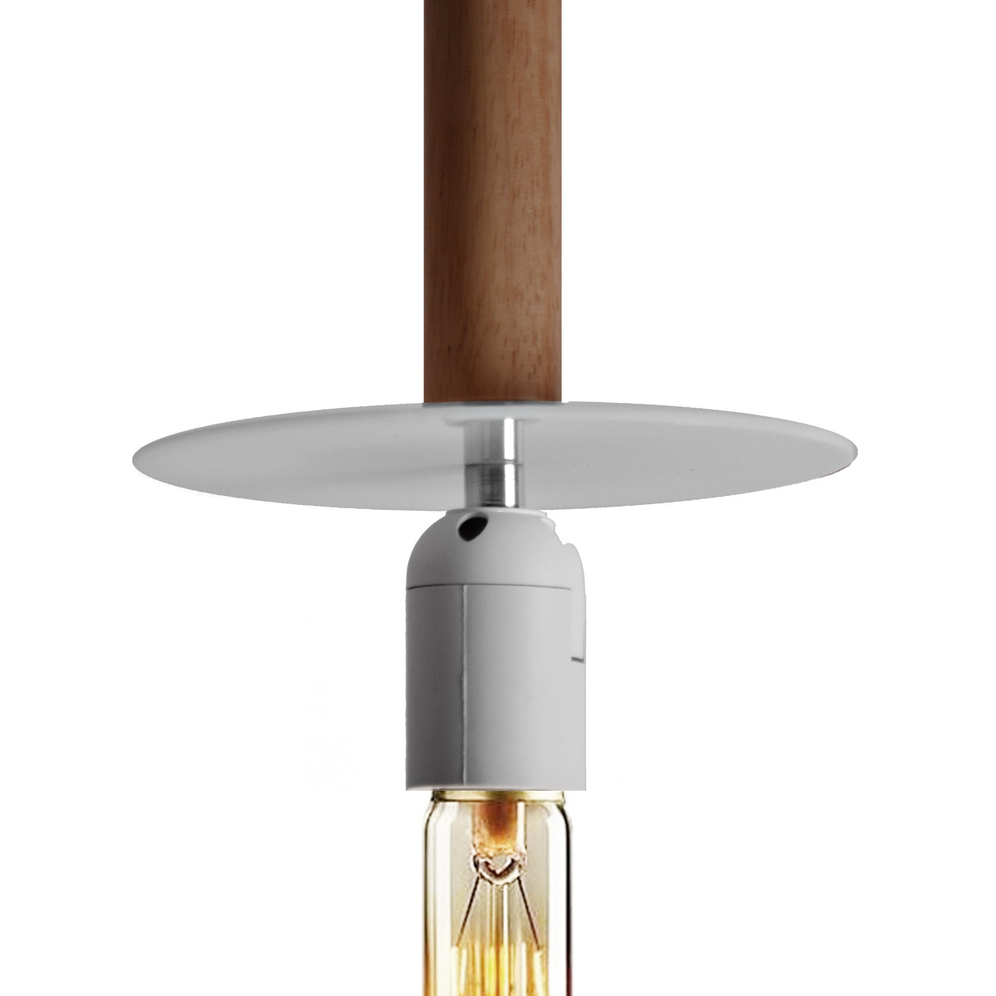 Pendant Lamp - Tall Solid Wood Pendant Lamp BPMT13-W