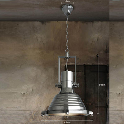Vintage Brushed Steel Pendant lamp BP0904-C - ebarza