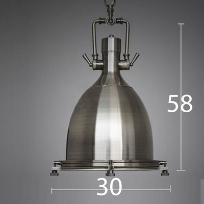 Pendant Lamp - Vintage Brushed Steel Pendant Lamp BP0903
