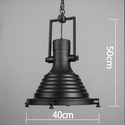 Pendant Lamp - Vintage Brushed Steel Pendant Lamp BP0904-B