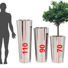 Set of 3 large Handmade  Stainless steel  planter box  AX00