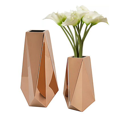 Set of 2 Stainless steel  planter box  66865