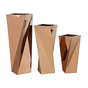 Set of 3 large Stainless steel  planter box  JKS090-91-92 TG-P02