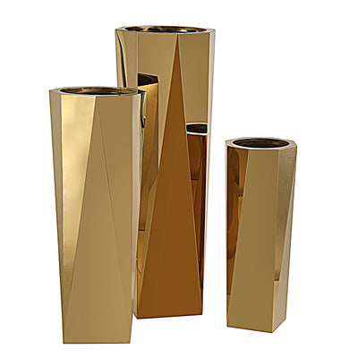 Set of 3 large Stainless steel  planter box  JKS094-95-96
