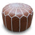Handmade genuine leather Moroccan style pouf Pouf morocco-caramel -  بوف جلد طبيعي مصنوع يدويًا على الطراز المغربي - Shop Online Furniture and Home Decor Store in Dubai, UAE at ebarza