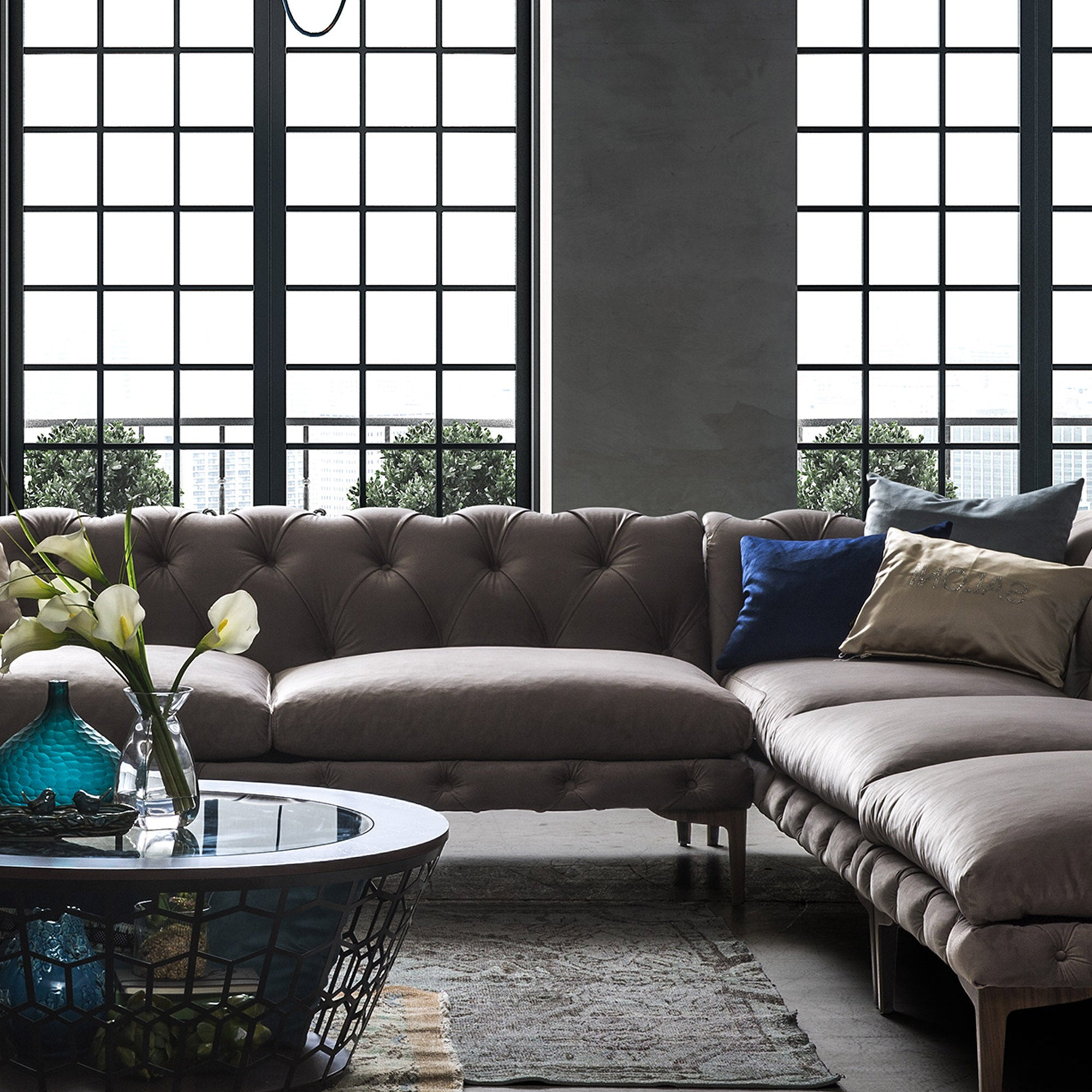 Porto Sectional  sofa a Por001 -  أريكة مقطعية بورتو - Shop Online Furniture and Home Decor Store in Dubai, UAE at ebarza