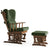 KONFOR  Rocking Chair and rocking  Pouf  KON-GREEN001