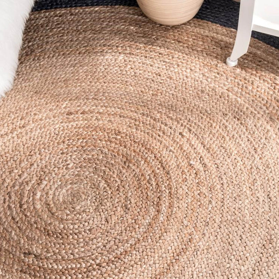 D 300 CM Braided Round handmade Wool Rug Braided-008RL