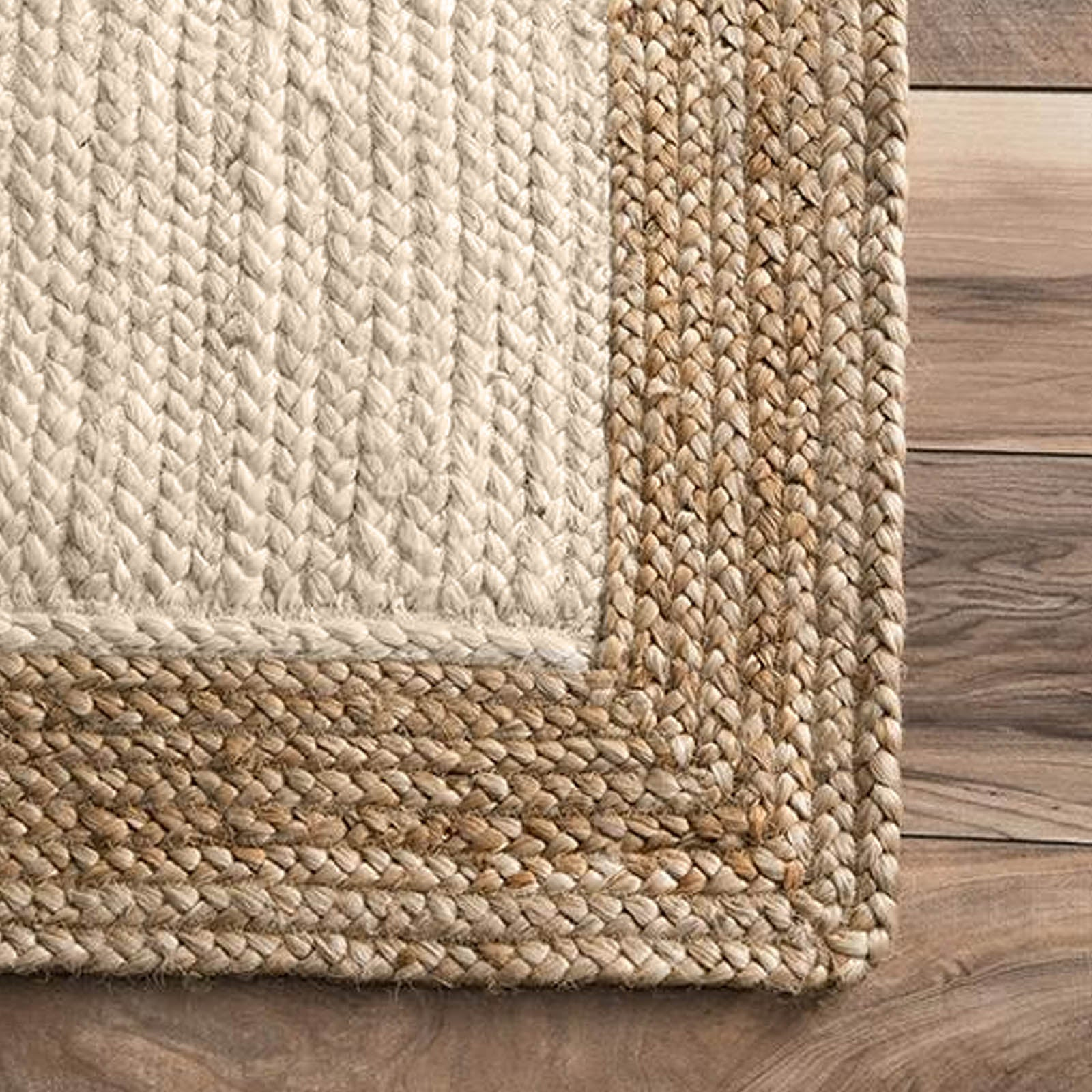 60X90 cm Braided Handmade Jute Rug Braided-001xs -  60X90 سم سجادة مصنوعة يدويًا من الجوت المجدول - Shop Online Furniture and Home Decor Store in Dubai, UAE at ebarza