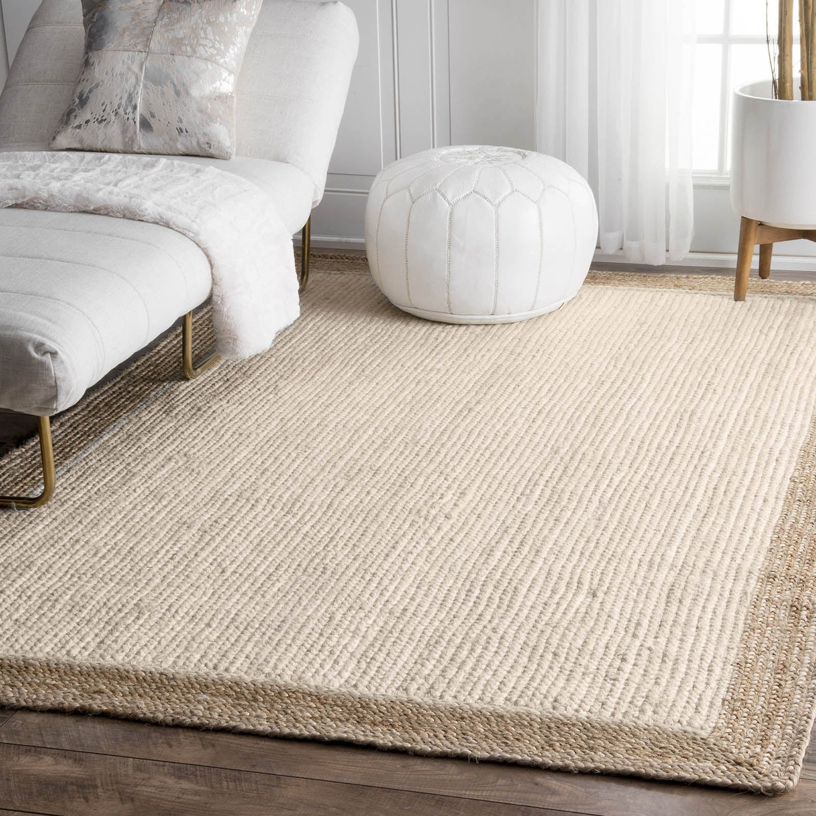 90X130 cm Braided Handmade Jute Rug Braided-001S